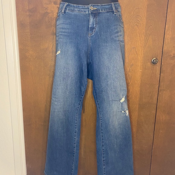Torrid Distressed Relaxed Bootcut Jeans